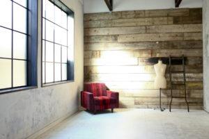 ソファ、ウッド、インダストリアル、倉庫、工場、広い、関東都内の自然光スタジオ、世田谷区、二子玉川