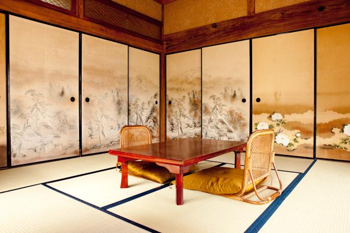 居間、和風、母屋、千葉、いすみの古民家と自然光スタジオ