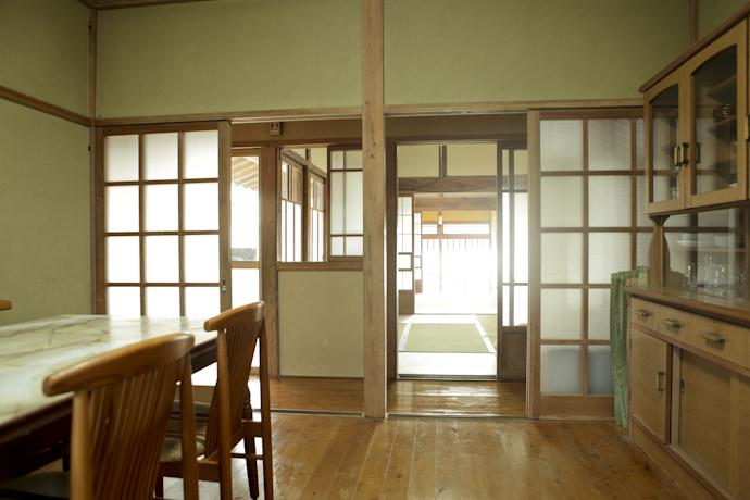 ダイニング、和風、母屋、千葉、いすみの古民家と自然光スタジオ
