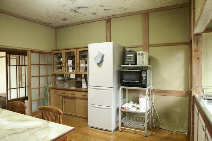 キッチン、ダイニング、和風、母屋、千葉、いすみの古民家と自然光スタジオ