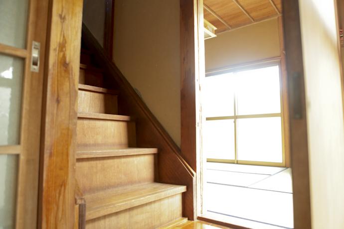 階段、和風、母屋、千葉、いすみの古民家と自然光スタジオ