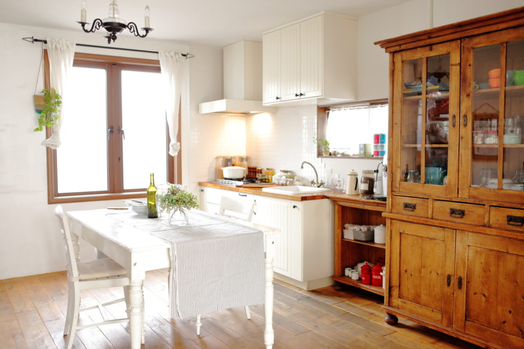 可愛いキッチン、洋風一戸建、一軒家スタジオ、関東都内の自然光スタジオ、世田谷区、下馬
