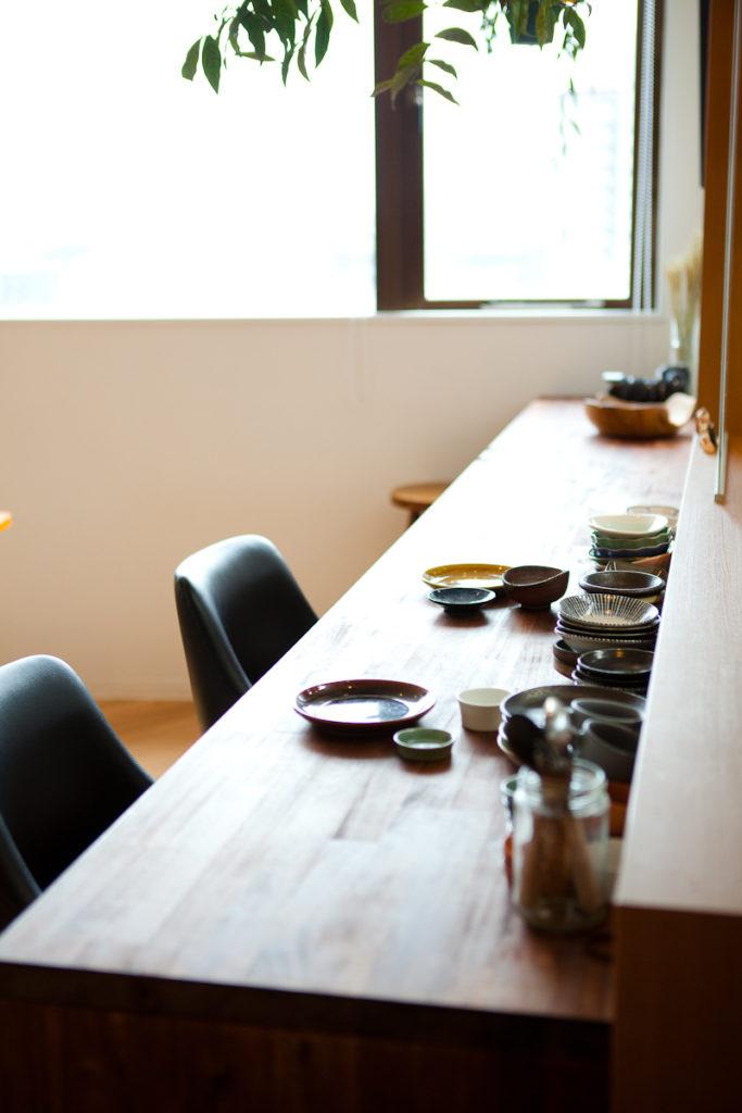 カウンターキッチン、植物、マンションスタジオ、関東都内の自然光スタジオ、世田谷区、眺望良好、エグゼクティブ