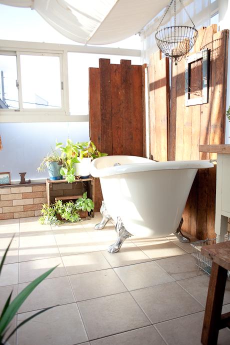 バス、風呂、サンルーム、植物、アトリエ、洋風一戸建、一軒家スタジオ、関東都内の自然光スタジオ、世田谷区