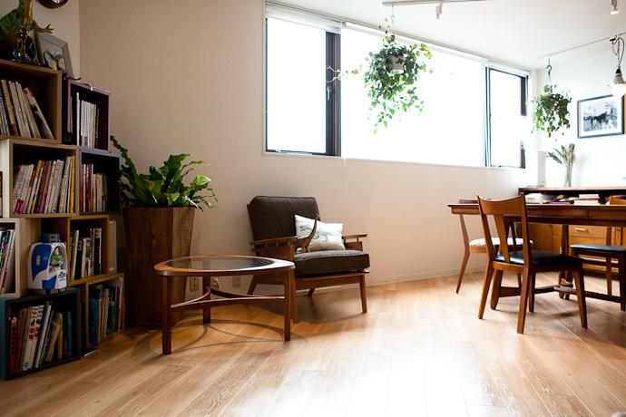 ソファと生活感、植物、マンションスタジオ、関東都内の自然光スタジオ、世田谷区、眺望良好、エグゼクティブ