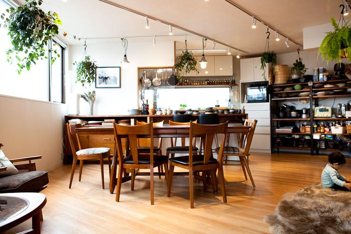 キッチンと生活感、植物、マンションスタジオ、関東都内の自然光スタジオ、世田谷区、眺望良好、エグゼクティブ