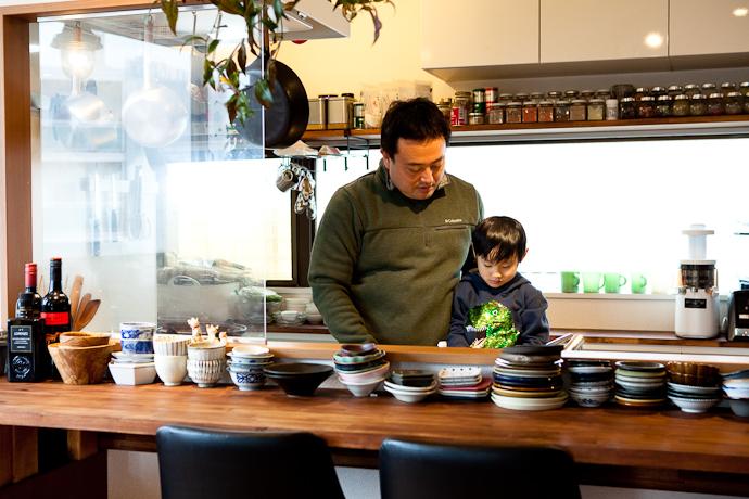 家庭、ファミリー、キッチンと生活感、植物、マンションスタジオ、関東都内の自然光スタジオ、世田谷区、眺望良好、エグゼクティブ