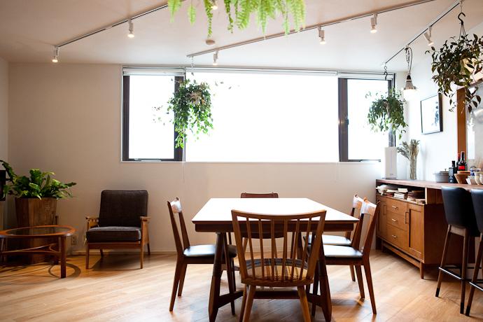 ダイニング、キッチンと生活感、植物、マンションスタジオ、関東都内の自然光スタジオ、世田谷区、眺望良好、エグゼクティブ