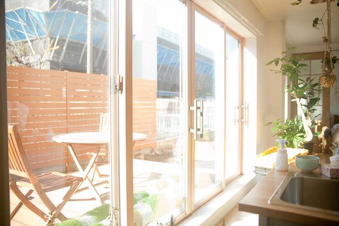 テラス、バルコニー、自然光、関東都内東京スタジオ、キッチン、リビング、植物