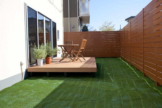 テラス、バルコニー、芝生、自然光、関東都内東京スタジオ、キッチン、リビング、植物